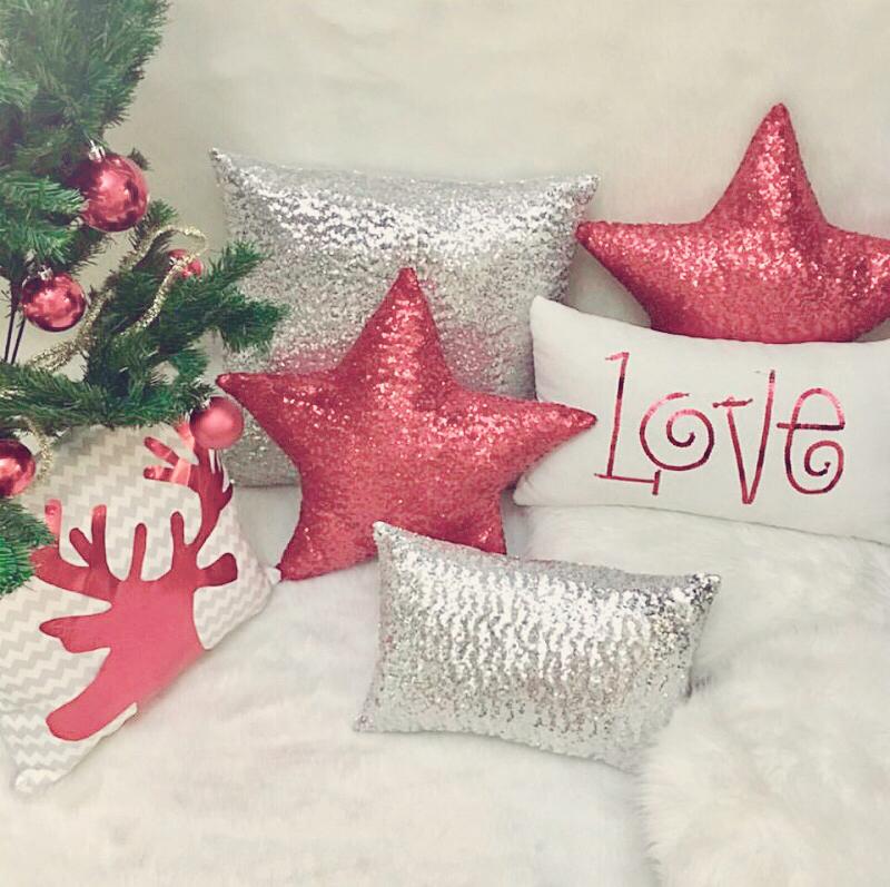 Kit cojines de navidad estrella navidad decoraci n - Adornos para cojines ...